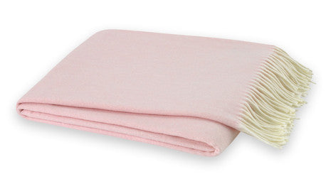 Cherry Blossom Italian Herringbone Throw