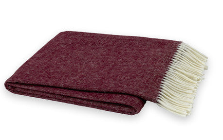 Merlot Italian Herringbone Throw