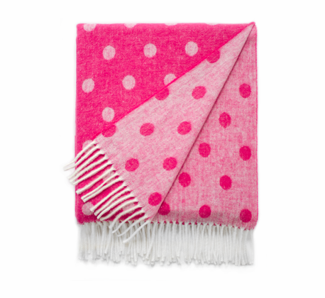 Peony Dots and Stars Italian Reversible Jacquard Throws