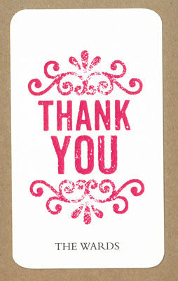 Thank You Stamp Say Anything Gift Wine Tags