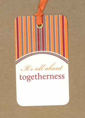 Thanksgiving Togetherness Say Anything Holiday Gift Wine Tags