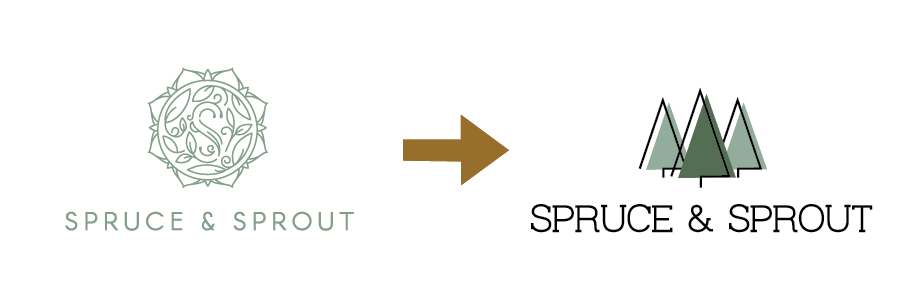 Spruce & Sprout, Logo change explainer