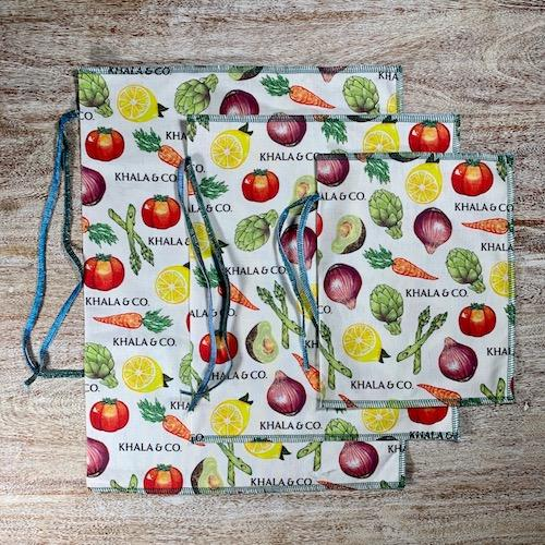 hemp cotton produce bags
