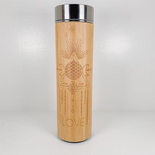 Bamboo Water Bottle - LOVE