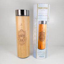 Load image into Gallery viewer, Bamboo Water Bottle - PEACE