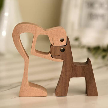 Pet lover gifts |Wood sculpture |Table ornaments |Carved wood decor | Pet memorial | For puppies | Mother's Day Gift