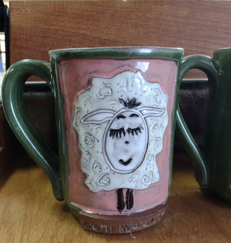 Sheep comical Pottery mugs dishwasher microwave safe handmade coffee