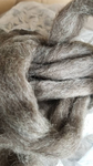 1lb Leicester Grey Roving   ON ORDER
