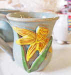 Coffee Mug DAFFODILS dishwasher microwave safe pottery