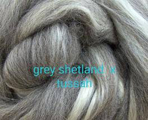 1lb Shetland x Tussah Silk Combed Top MULTIPLE COLORS
