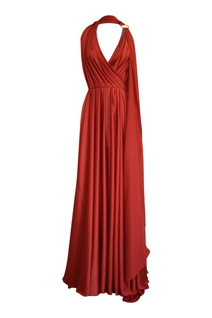 DRAPED ASYMMETRICAL DRESS