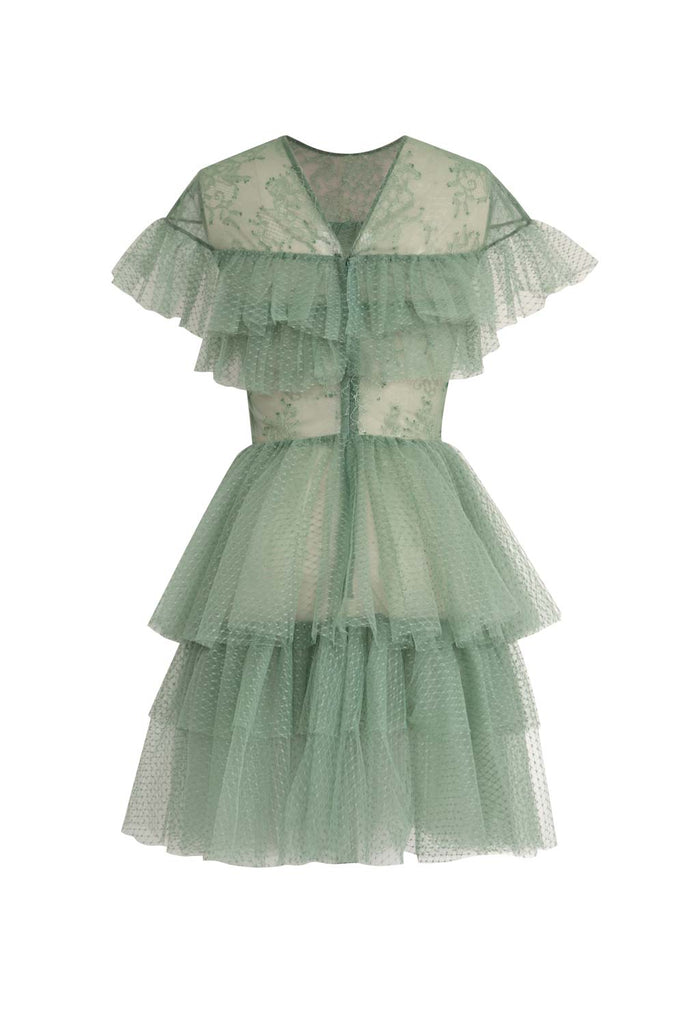 TULLE & LACE MINI DRESS