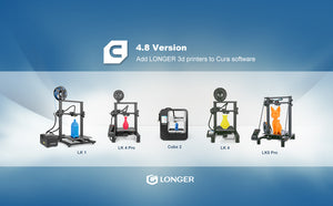 Add LONGER 3d printers into Cura 4.8 Version