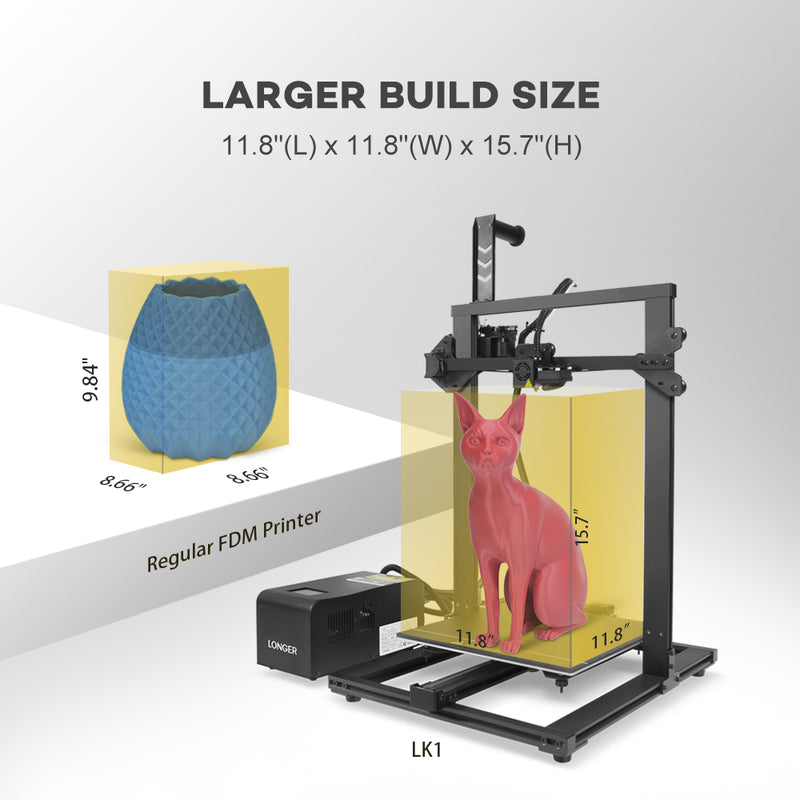 LK1 FDM 3D Printer  |  LONGER | Most Affordable 3D Printer