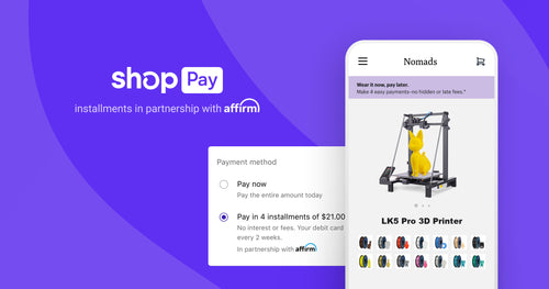 Paying in installments with Shop Pay - LONGER 3D printers