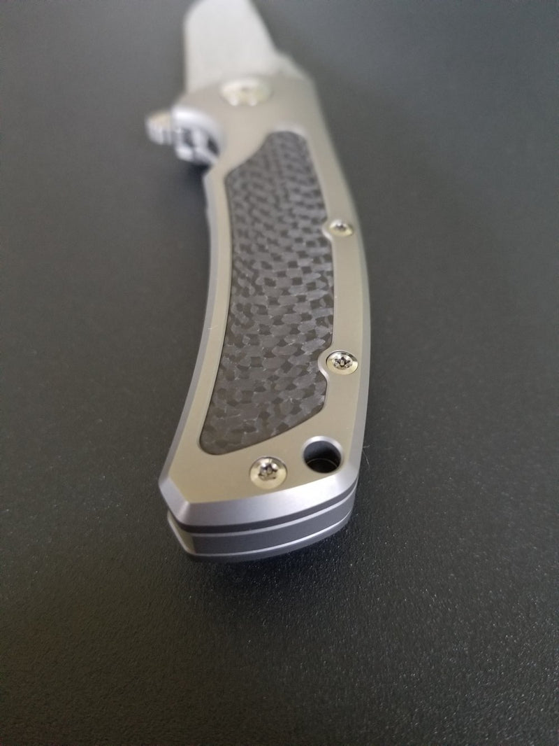 Reate Mini Horizon D Carbon Fiber Damasteel