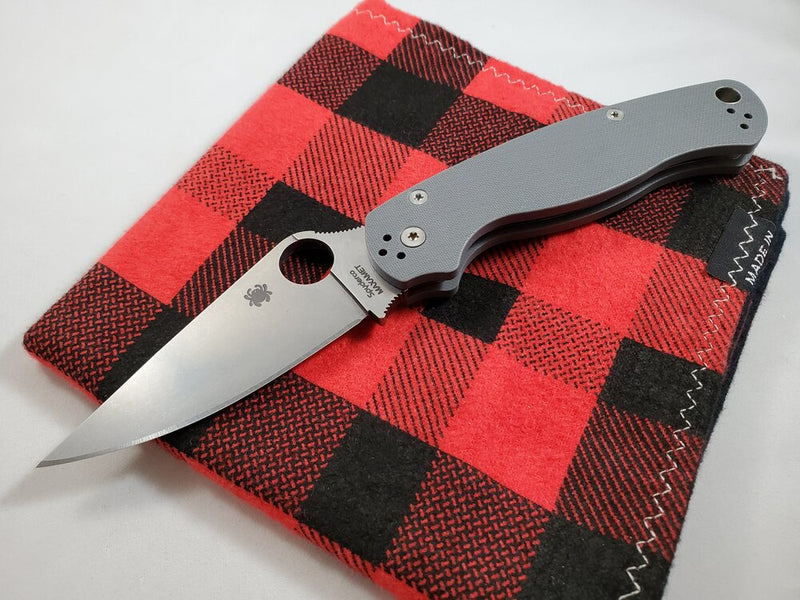 Spyderco Para Military PM2 Dark Grey Maxamet Steel