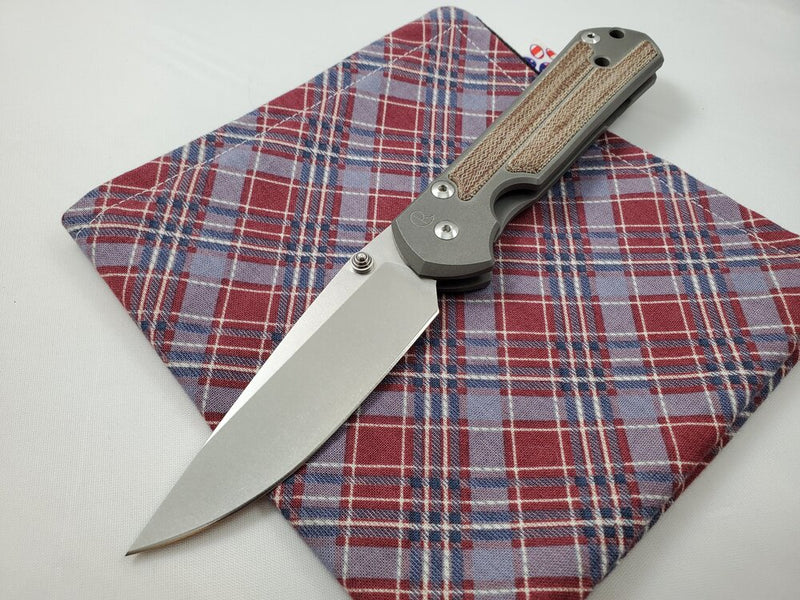 Chris Reeve Large 21 Natural Canvas Micarta