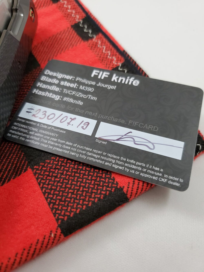 Custom Knife Factory FIF23 Twill Carbon Fiber