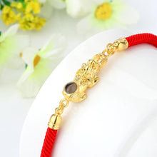 Load image into Gallery viewer, Feng Shui Red Rope Pixiu Bracelet - Inner Manifestation