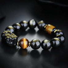 Load image into Gallery viewer, Gold Sheen Obsidian Pi Yao Bracelet - Inner Manifestation