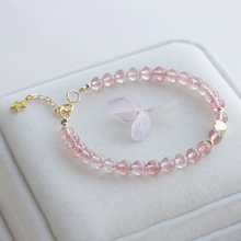 Load image into Gallery viewer, Natural Strawberry Quartz Charm Bracelet - Inner Manifestation