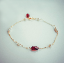 Load image into Gallery viewer, 14K Gold Red Garnet Chakra Healing Bracelet - Limited Edition - Inner Manifestation