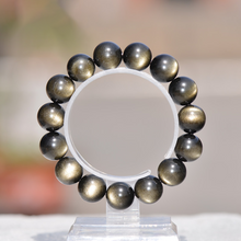 Load image into Gallery viewer, Natural Gold Sheen Obsidian Chakra Healing Bracelet - Inner Manifestation
