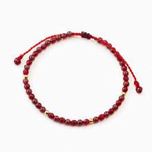 Load image into Gallery viewer, Red Garnet Lucky Weave Red String Wealth Bracelet - Inner Manifestation