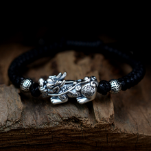 Load image into Gallery viewer, Dragon Knot Handwoven Pixiu Bracelet - Inner Manifestation