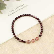 Load image into Gallery viewer, Natural Wine Red Garnet Lucky Charm Bracelet - Inner Manifestation