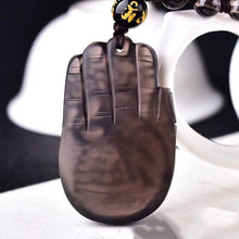 Load image into Gallery viewer, Natural Obsidian Elephant Lucky Stone Necklace