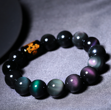 Load image into Gallery viewer, Natural Rainbow Obsidian Protection Bracelet - Inner Manifestation