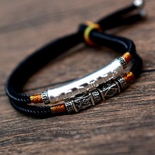 Load image into Gallery viewer, Six-word Mantra Handwoven Bracelet - Inner Manifestation