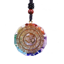 Load image into Gallery viewer, Om Symbol Orgonite Chakra Necklace - Inner Manifestation