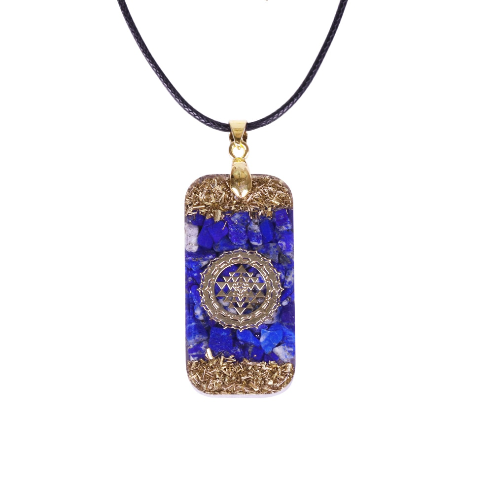Sacred Sri Yantra Orgonite Energy Necklace - Inner Manifestation