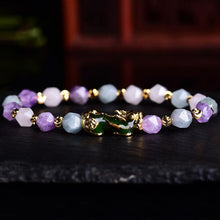 Load image into Gallery viewer, Wealth Pixiu Charm in Natural Amethyst Bracelet - Inner Manifestation