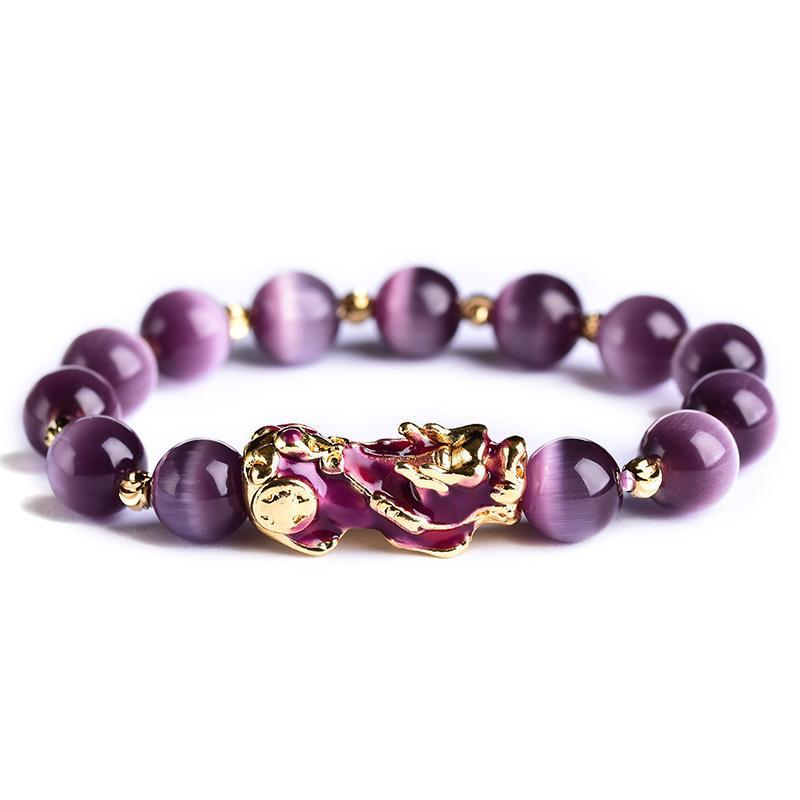 Purple Amethyst Wealth Pixiu Bracelet - Inner Manifestation