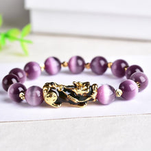 Load image into Gallery viewer, Purple Amethyst Wealth Pixiu Bracelet - Inner Manifestation