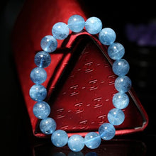 Load image into Gallery viewer, Blue Aquamarine Courage Bracelet - Inner Manifestation