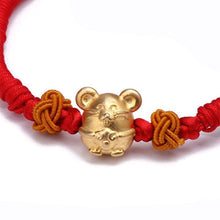 Load image into Gallery viewer, 2020 Lucky Kabbalah Red String Mouse Bracelet - Inner Manifestation