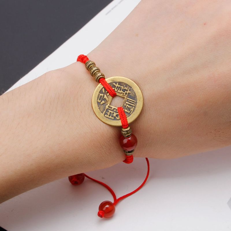 Ancient Coin Kabbalah Red String - Inner Manifestation