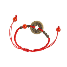 Load image into Gallery viewer, Ancient Coin Kabbalah Red String - Inner Manifestation