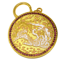 Load image into Gallery viewer, Feng Shui Nine Tailed White Fox Amulet