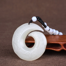 Load image into Gallery viewer, Hand-Carved Jade Fortune Necklace - Inner Manifestation