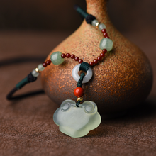 Load image into Gallery viewer, Natural Green Jade Wealth Luck Necklace - Inner Manifestation