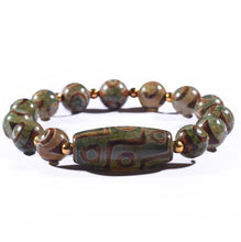 Load image into Gallery viewer, 9 Eyes & 3 Eyes Dzi Wealth Bracelet - Inner Manifestation