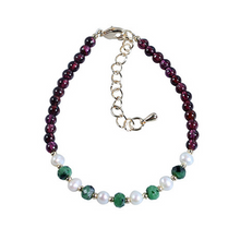 Load image into Gallery viewer, Natural Garnet Healing Charm Bracelet - Inner Manifestation