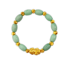 Load image into Gallery viewer, Green Jade Pixiu Bracelet - Inner Manifestation
