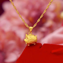 Load image into Gallery viewer, Feng Shui Lucky Pig Fortune Necklace - Inner Manifestation